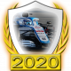 A collectable Williams-Mercedes 2020 FF1GP team fanbadge