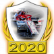 A collectable Alfa Romeo-Ferrari 2020 FF1GP team fanbadge