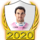 A collectable Sergio Pérez 2020 FF1GP driver fanbadge