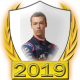 A collectable Daniil Kvyat 2019 FF1GP driver fanbadge