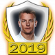 A collectable Kimi Raikkonen 2019 FF1GP driver fanbadge