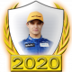 A collectable Lando Norris 2020 FF1GP driver fanbadge