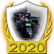 A collectable Renault 2020 FF1GP team fanbadge