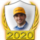 A collectable Carlos Sainz, Jr. 2020 FF1GP driver fanbadge