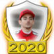 A collectable Charles Leclerc 2020 FF1GP driver fanbadge