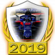 A collectable Toro Rosso-Honda 2019 FF1GP team fanbadge