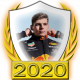 A collectable Max Verstappen 2020 FF1GP driver fanbadge