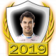 A collectable Sergio Pérez 2019 FF1GP driver fanbadge