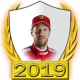 A collectable Sebastian Vettel 2019 FF1GP driver fanbadge