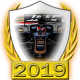 A collectable Haas-Ferrari 2019 FF1GP team fanbadge