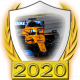 A collectable McLaren-Renault 2020 FF1GP team fanbadge