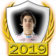 A collectable Lance Stroll 2019 FF1GP driver fanbadge