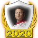 A collectable Kimi Raikkonen 2020 FF1GP driver fanbadge