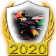 A collectable Red Bull-Honda 2020 FF1GP team fanbadge