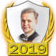 A collectable Kevin Magnussen 2019 FF1GP driver fanbadge
