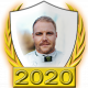 A collectable Valtteri Bottas 2020 FF1GP driver fanbadge