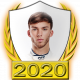 A collectable Pierre Gasly 2020 FF1GP driver fanbadge