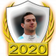 A collectable Nicholas Latifi 2020 FF1GP driver fanbadge