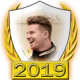 A collectable Nico Hulkenberg 2019 FF1GP driver fanbadge