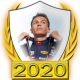 A collectable Alexander Albon 2020 FF1GP driver fanbadge