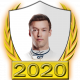 A collectable Daniil Kvyat 2020 FF1GP driver fanbadge