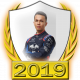A collectable Alexander Albon 2019 FF1GP driver fanbadge