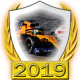 A collectable McLaren-Renault 2019 FF1GP team fanbadge