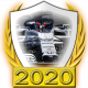 A collectable AlphaTauri-Honda 2020 FF1GP team fanbadge