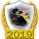A collectable Renault 2019 FF1GP team fanbadge