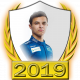 A collectable Lando Norris 2019 FF1GP driver fanbadge