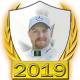A collectable Valtteri Bottas 2019 FF1GP driver fanbadge