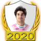 A collectable Lance Stroll 2020 FF1GP driver fanbadge